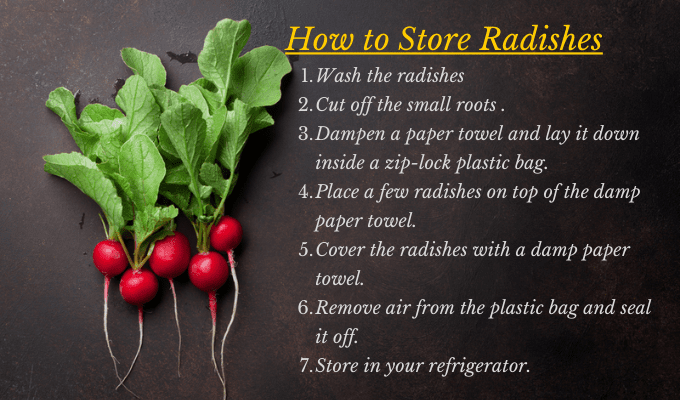How to store radishes