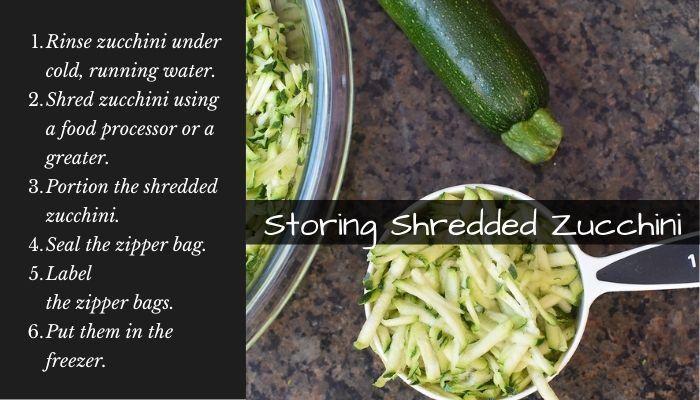 How to store shredded zucchini