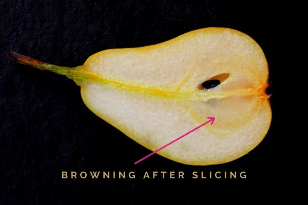 pears browning when cut