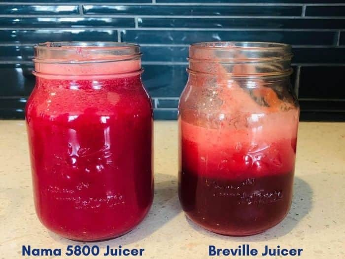 Nama vs Breville Juice Extraction Comparison