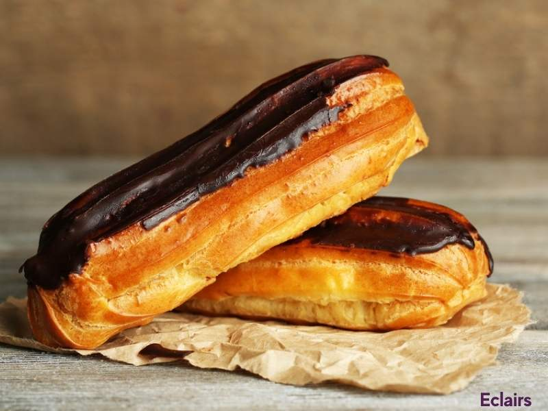 Foods that start with E - Eclair